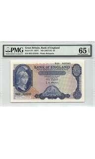 1957-67英國五鎊鈔票