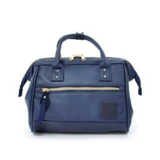AT-H1021 [Anello] NAVY Authentic Anello  Mini Leather Boston
