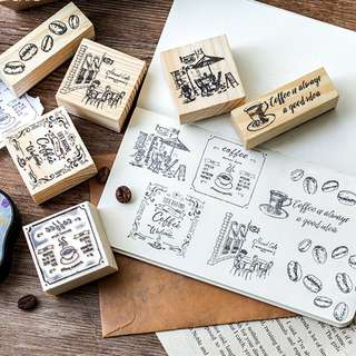 (PO) Coffee Wooden Stamps
