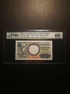Malaya and British Borneo $1 1959 (PMG66 EPQ)