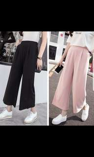 High waisted palazzo pants.