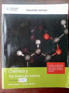 Chemistry: The Molecular Science Fifth Edition - SHS BOOK