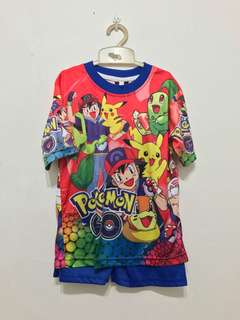 Pokemen shirts and shorts