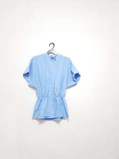 Dot Dtails Baby Blue Top