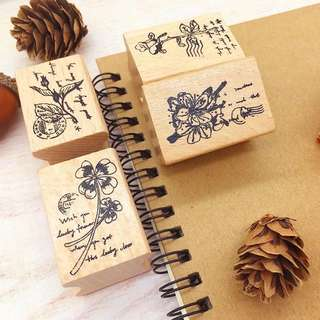 (PO) Floral Wooden Stamps Part 1