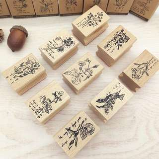 (PO) Floral Wooden Stamps Part 2