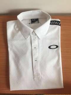 🚚 日本Oakley設計款 男POLO衫 白