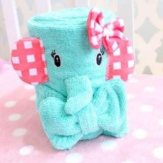Elephant Towel and Hairband Set
