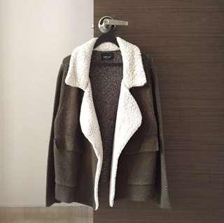 Zara Fur Line Knit Coat