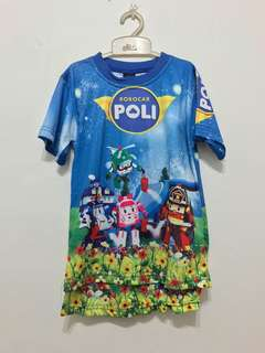 Robocar Poli shirt and shorts
