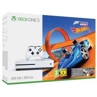 Brand New XBOX ONE S Forza horizon 3+hot wheels bundle 500GB(sealed)
