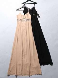 🚚 OshareGirl 05 美單女士純色蕾絲鏤空細肩帶洋裝連身裙