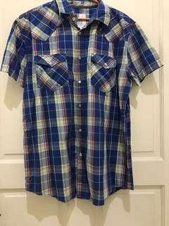 PRELOVED baju kemeja cowok pria FOX short sleeve shirt