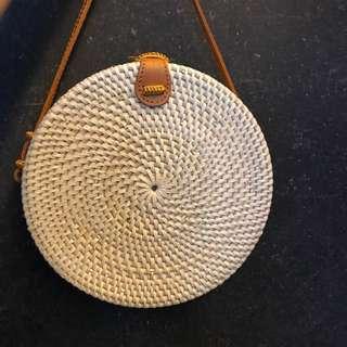 Circle Bali Rattan Shoulder Bag