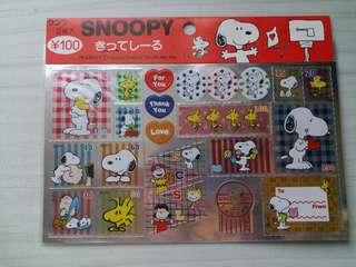 Snoopy 貼紙(2 pieces in)