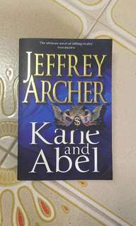 Jeffrey Archer : Kane and Abel book (New / unread )