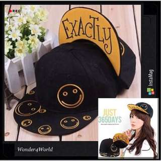 Exactly Smiling Face Hip Pop SnapBack Hat & Cap