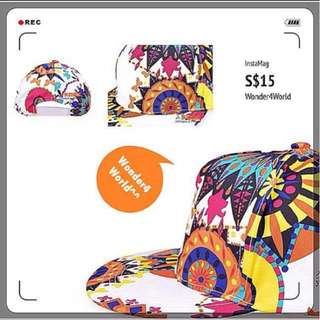 Colourful Flora Flower Hip Pop SnapBack Hat & Cap