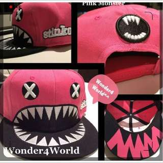 Cute Cute Monster SnapBack Hat & Cap (pink)  Running Man