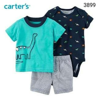 3in1 Carter's dino jumper set