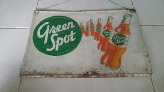 Green Spot Tin-plate Advertisement Sign