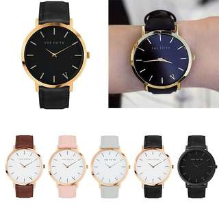 Quartz Leather Ladies Women Watch