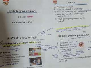 Psychology HP1000 Testbank Binded + Printed coloured slides with annotation / Psychology Core Concepts 7th Edition