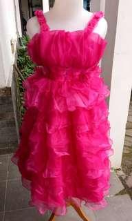 Baju dress pink anak