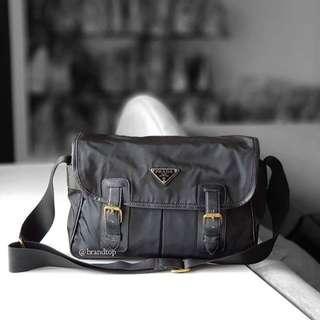 Authentic Prada Nylon Messenger Bag