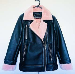 Pink shearling Topshop jacket - Sold out everywhere