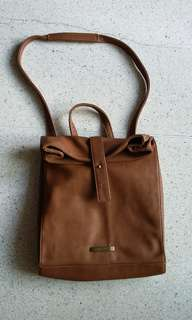 New Mizzue tan sling bag or backpack