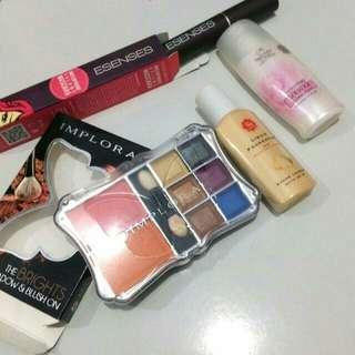 Paket hemat mascara blush eyeshadow foundation pelembab