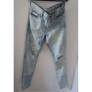 Current/Elliott Distressed Denim Jeans