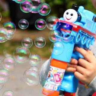 🚚 現貨 送電池🎵湯瑪士小火車電動泡泡槍 自動吹泡泡機