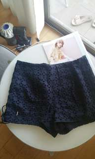 日本 Rosebullet Navy lace shorts