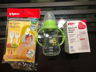 Bottles and feeding items