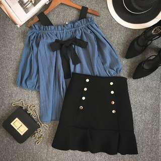 Off Shoulder Top + Skirt