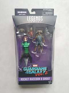Marvel Legends Rocket Racoon and Baby Groot Mantis BAF Wave Brand New and Sealed Avengers Infinity War Movie