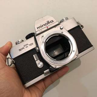 Minolta SRT101 silver mechanical camera