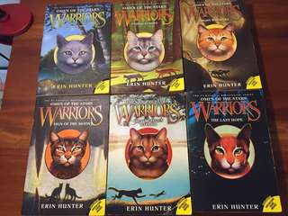 Warriors: Omen of the Stars Book 1-6 (complete series) incl. box. English