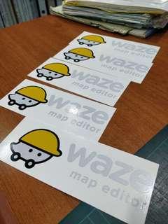 Waze Editor Sticker-Reflective