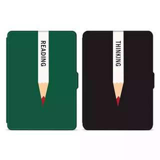 PO: Kindle 8/Voyage/Paperwhite Cover - Reading (Green) / Thinking (Black)