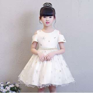 (Pre-order) Kids Princess Dress (White) #540
