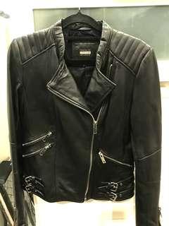 Zara Genuine leather jacket