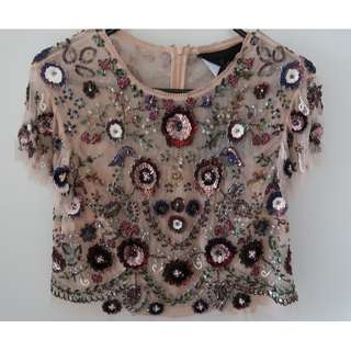 Needle & Thread Beaded Top