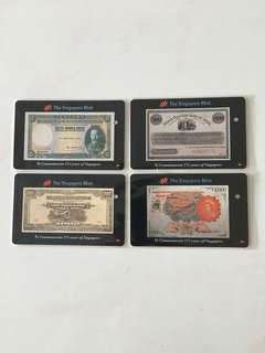 SMRT Card - Old Currency Notes to commemorate 175 years of Singapore