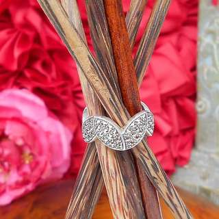 MARCASITE 925 SILVER Zig Zag Accent Ring – NEW