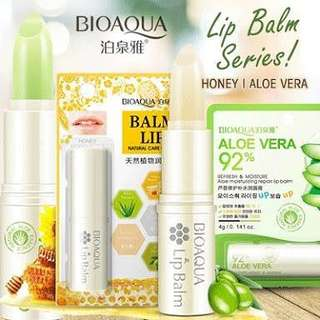 Bioaqua Lipbalm Honey and Alovera 100% Original