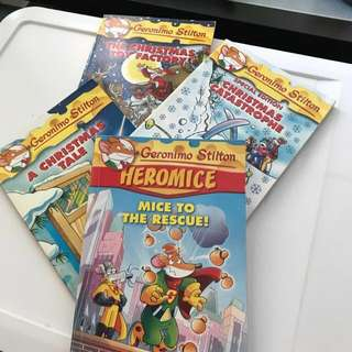 Geronimo Stilton Books, 4 titles