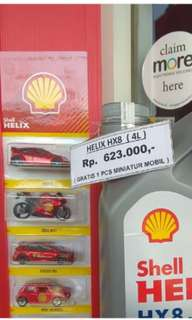 Oli shell mobil Hx8 free mainan hotweels/bmw
